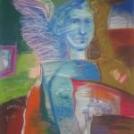 Kresťanské umenie, Pastel, obraz, anjel