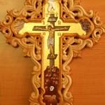 Vyrezávaný písaný kríž