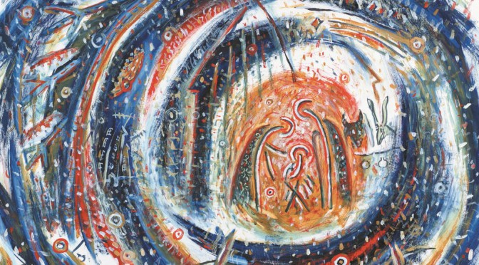 IN EXCELSIS DEO, tempera, akryl na papieri, 61x86cm, 2003