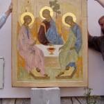svata trojica, ikona
