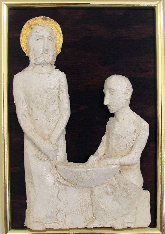 relief, keramika, krizova cesta, MÁRIA MOLČÁNYIOVÁ ZDRAVECKÁ