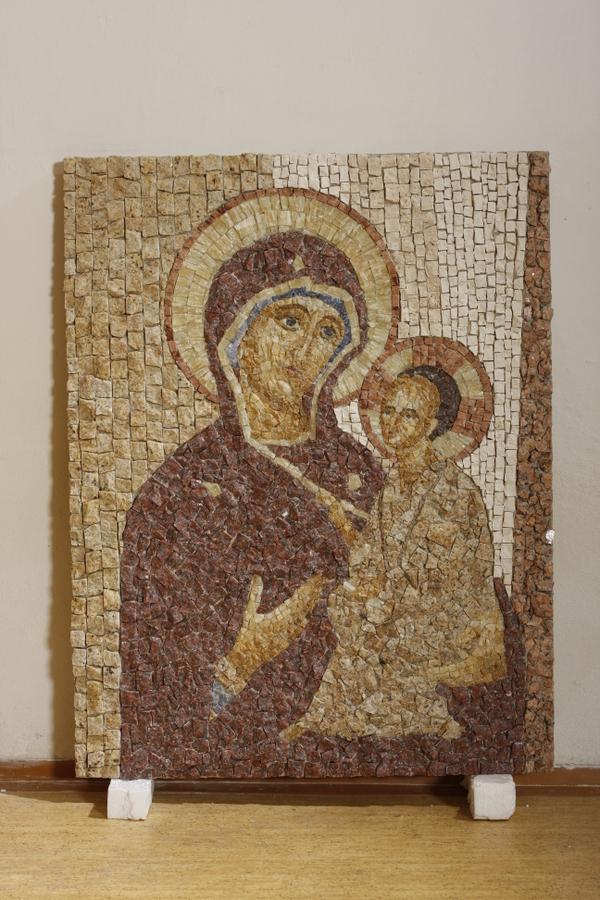 mozaika, bohorodička