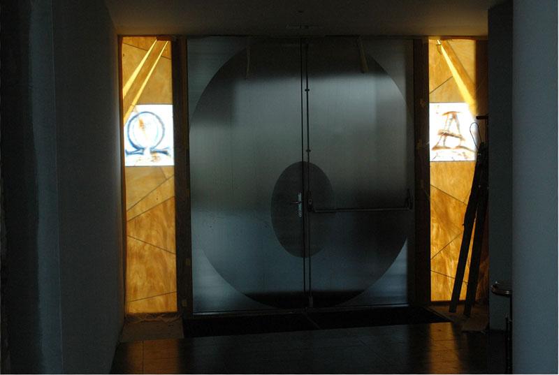 alfa omega, dvere, sakralne umenieStrbova_Iva